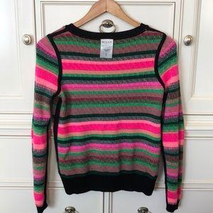 Milly Kuji Reversible Jacquard Sweater neon pink